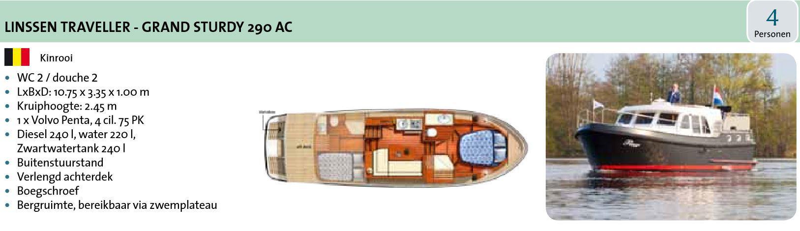 Linsen traveller 290 Ac bboat